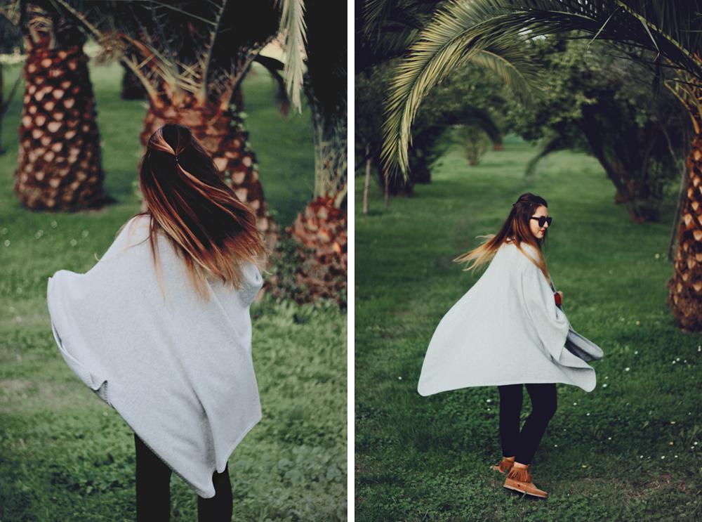 winter london cashmere cape