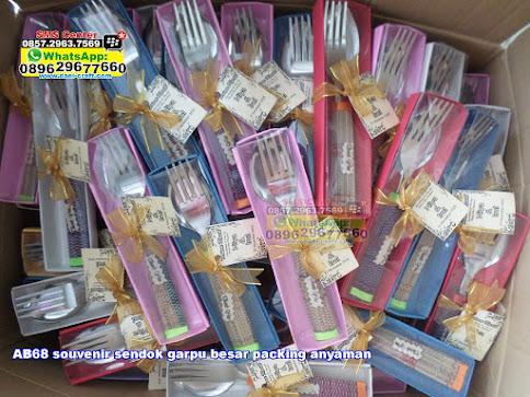 souvenir sendok garpu besar packing anyaman jual