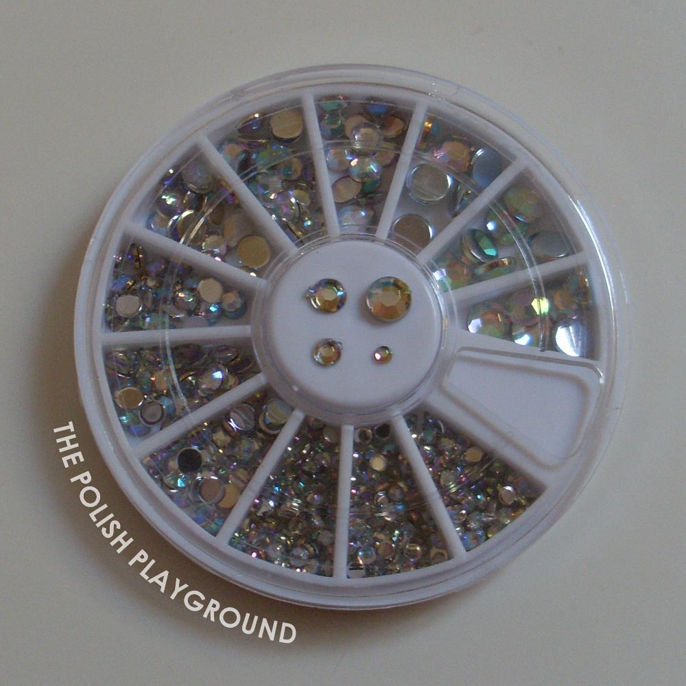 Born Pretty Store Round Rhinestone Wheel