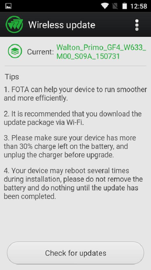 Primo GF4 OTA Update