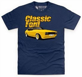 Classic Ford Capri T-shirt (choice of colours)