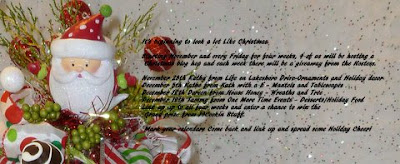 Christmas blog hop party invite