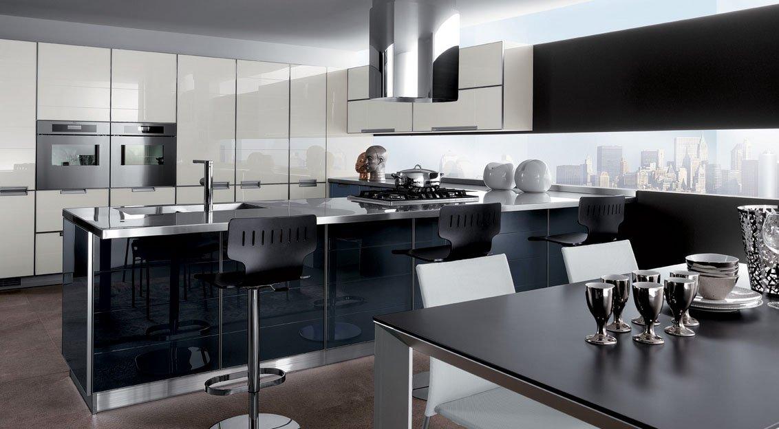 Mi casa mi hogar cocinas modernas en blanco y negro - Interiores cocinas modernas ...