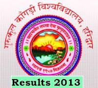 Gurukul Kangri University Haridwar Uttarakhand Results of B,Sc 2013