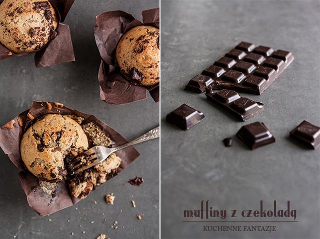 muffiny, muffinki, muffiny z czekoladą, przepis, przepis na muffinki