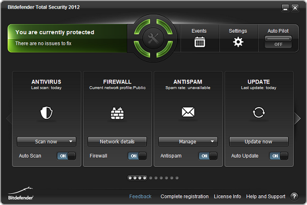Bitdefender Internet Security Screenshot
