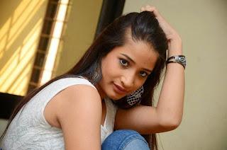 Santohs Sharma Telugu Item girl in Tight Sleeveless G Own at Romantic Lovers Telugu Movie Press Meet