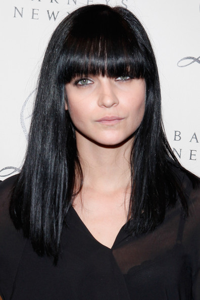 Hairstyle Photo Leigh Lezark Long Straight Cut With Bangs Hairstyle