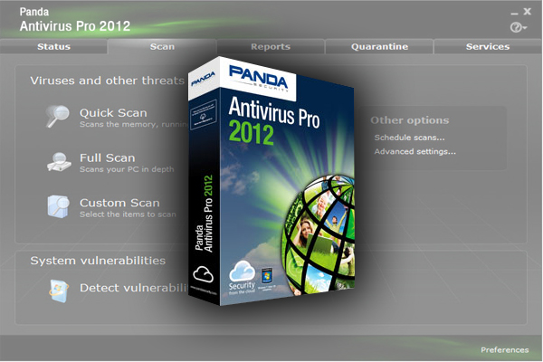 Panda Antivirus Pro 2012 is the easiest-to-use and most intuitive