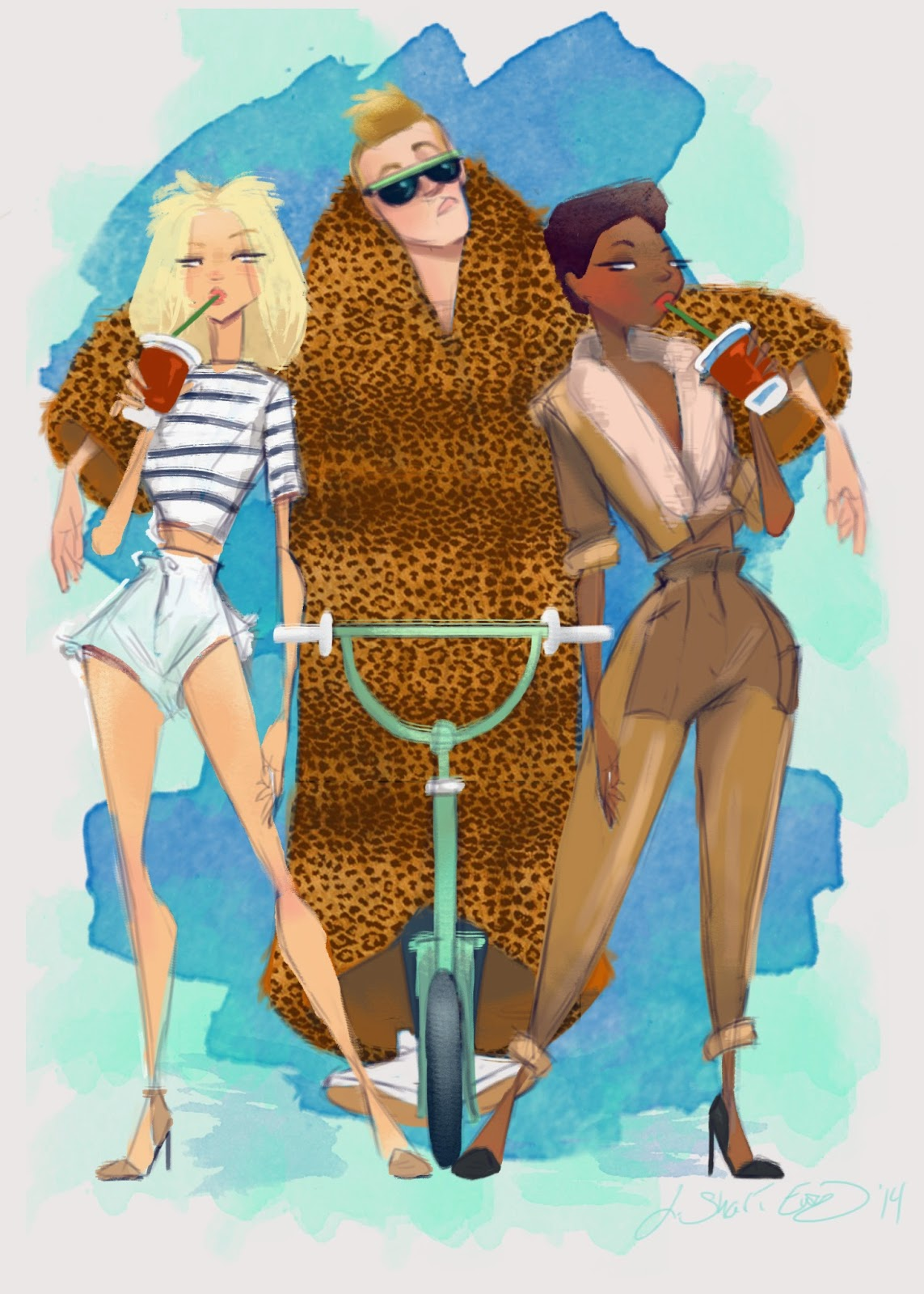 macklemore and ryan lewis thrift shop illustration