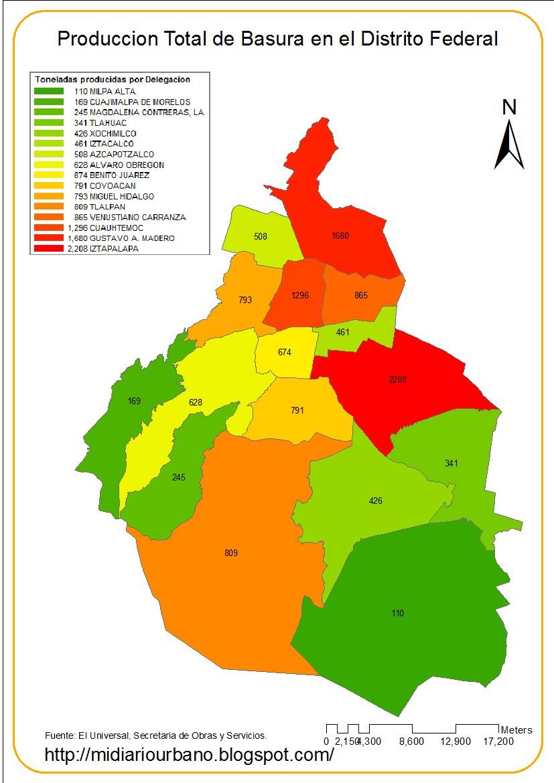 Mapa Del Distrito Federal De Mexico