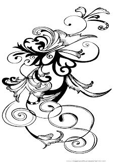 Imágenes de flores en blanco y negro