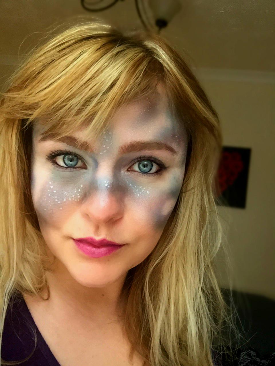 galaxy makeup tutorial simple halloween makeup 1 - Simple Halloween Images