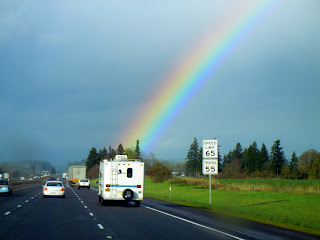 The rainbow right off of I-5
