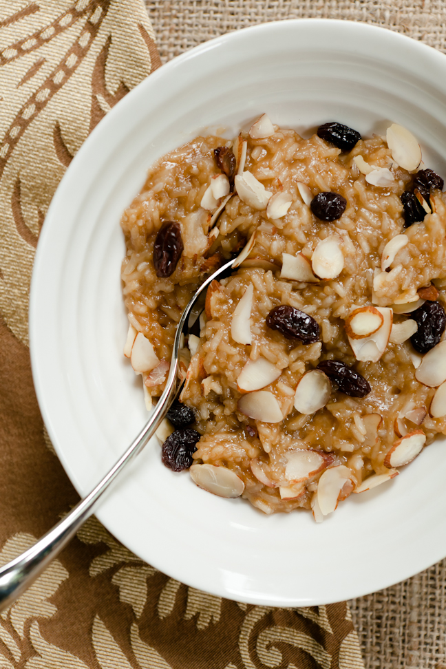 Coconut Sticky Rice with Almonds and Raisins | Cupcake Project