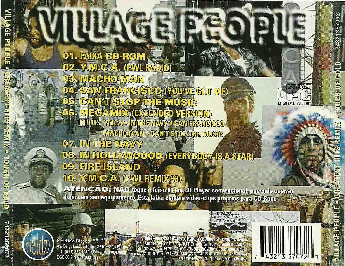 Imagem Sonoridade O Melhor Da Msica Village People Greatest Scop Air Rx King Original Hits Remix