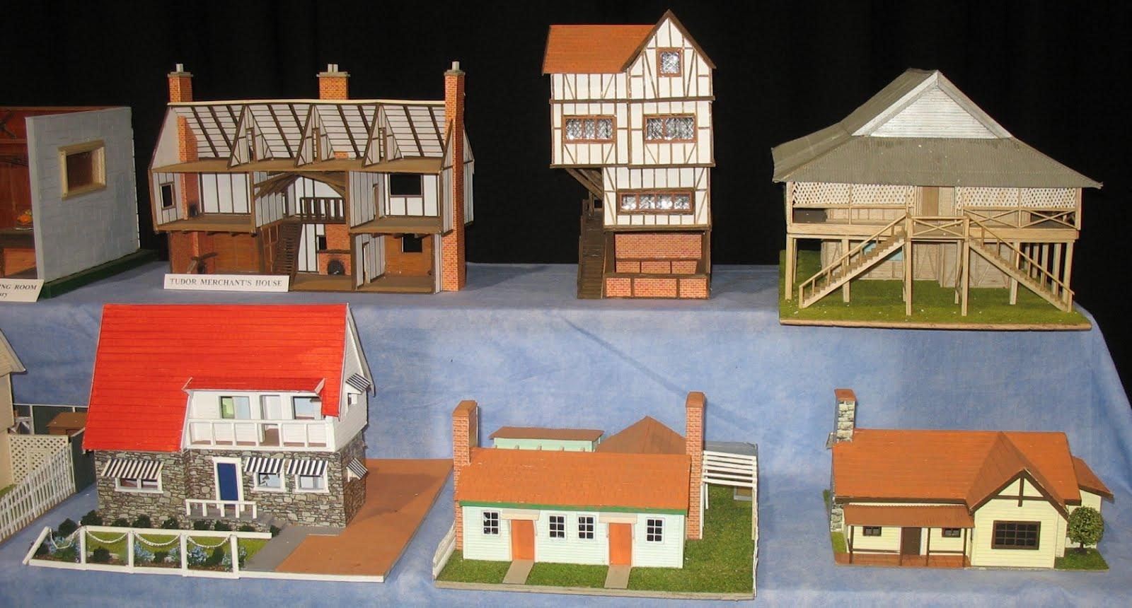 Card model tudor house