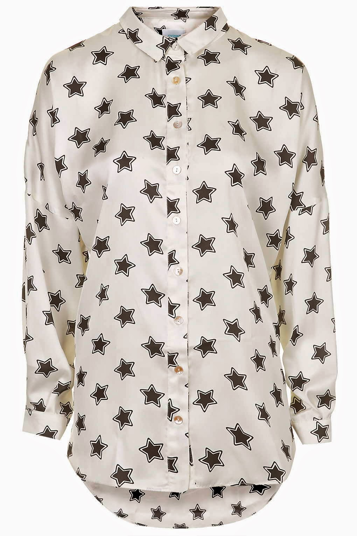 star print shirt topshop,