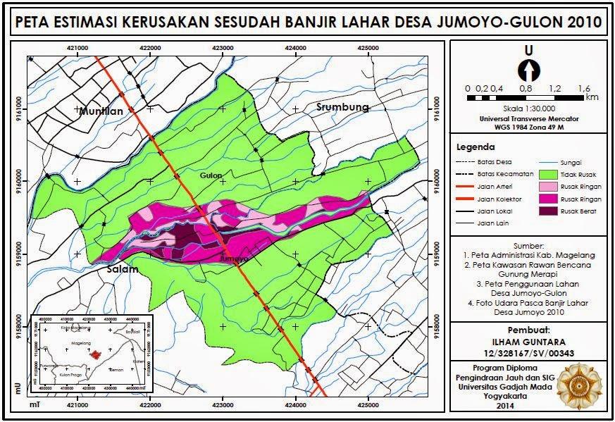 Contoh Peta Estimasi Kerusakan Sesudah Banjir Lahar www.guntara.com