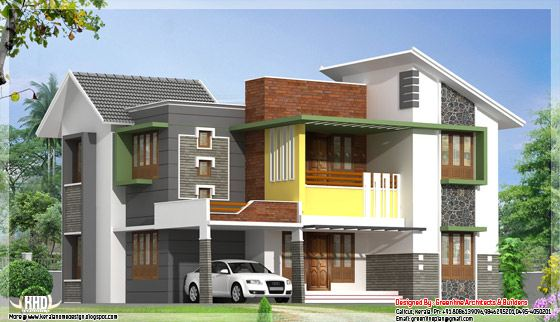 Modern house elevation