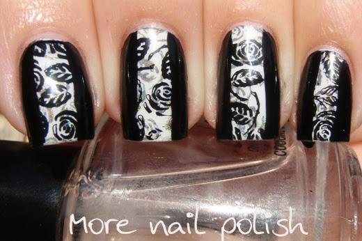 Black white to match my dress more nail polish