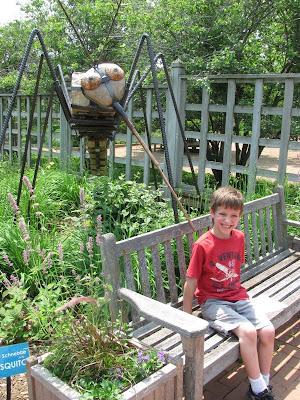 Scared of Giant Mosquito Sculpture Reiman Gardens