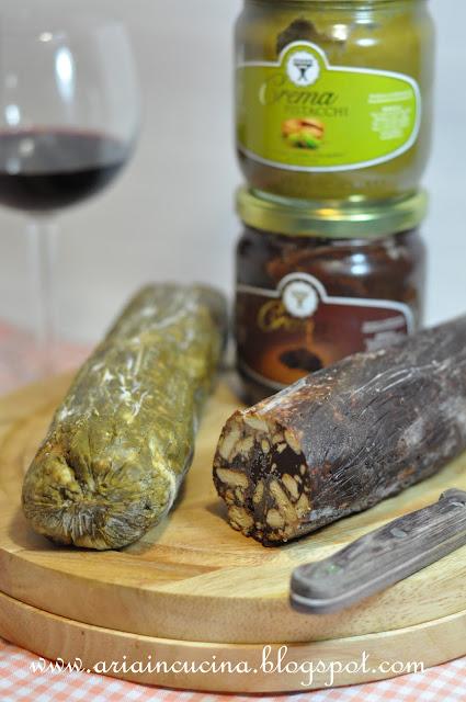 Blog di cucina di Aria: Il dolce salame moderno al pistacchio e ...
