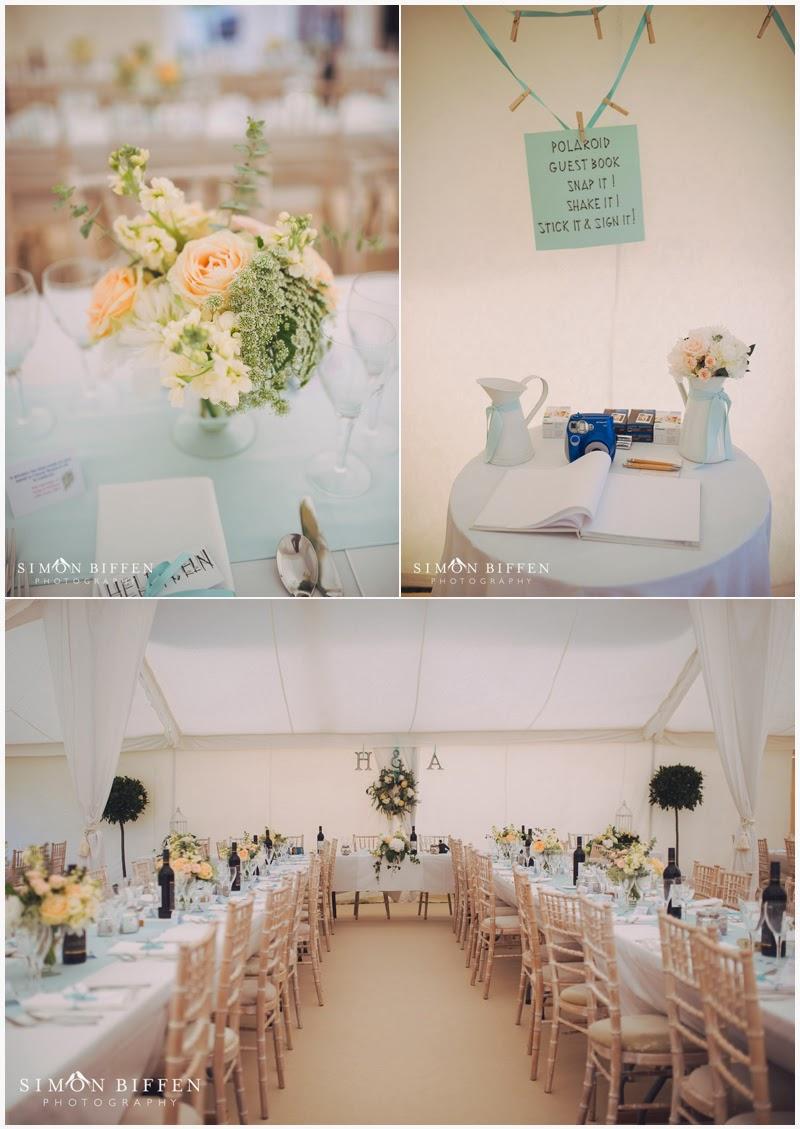 Marquee wedding details