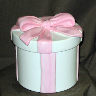 Order a Ceramic Hat Box Floral Container