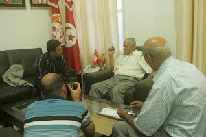 مع حسين العباسي امين عام الاتحاد العام التونسي للشغل