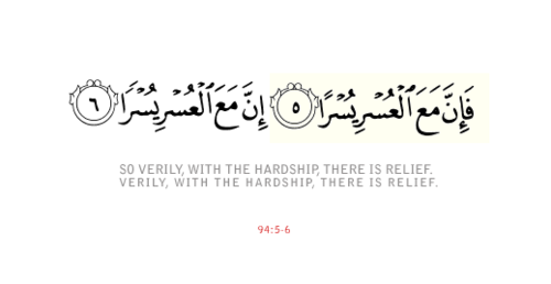 Image result for inna ma'al usri yusra meaning in urdu
