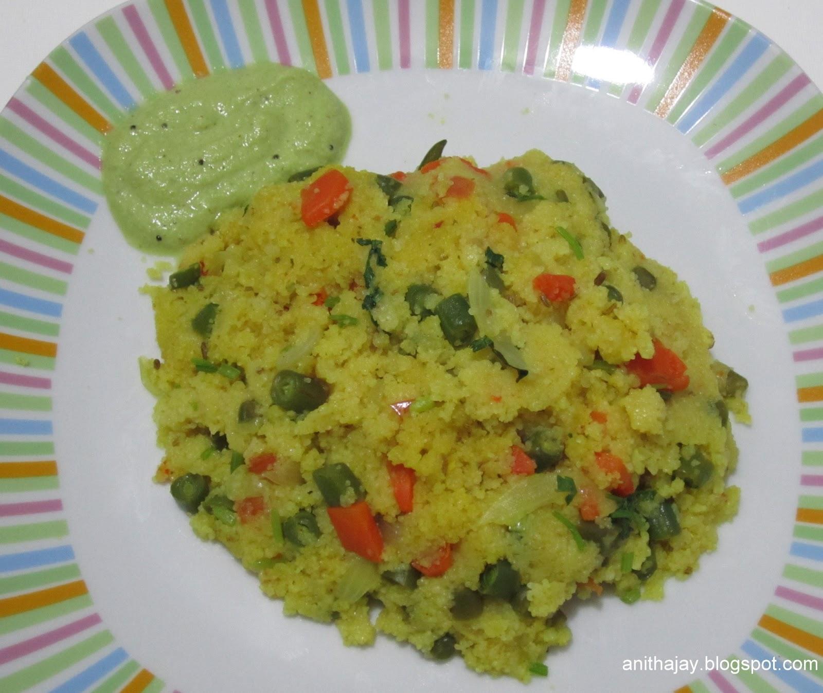 how to make rava kichadi