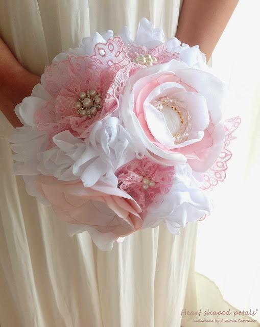 Peony bridal shabby chic bouquet