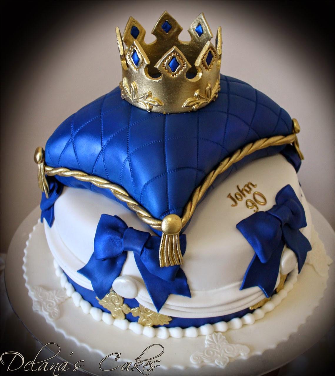 Delanas Cakes Royal Crown Pillow Cake