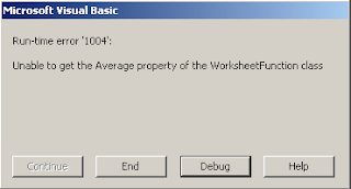 excel vba error help runtime error 1004 unable to get the average property of the