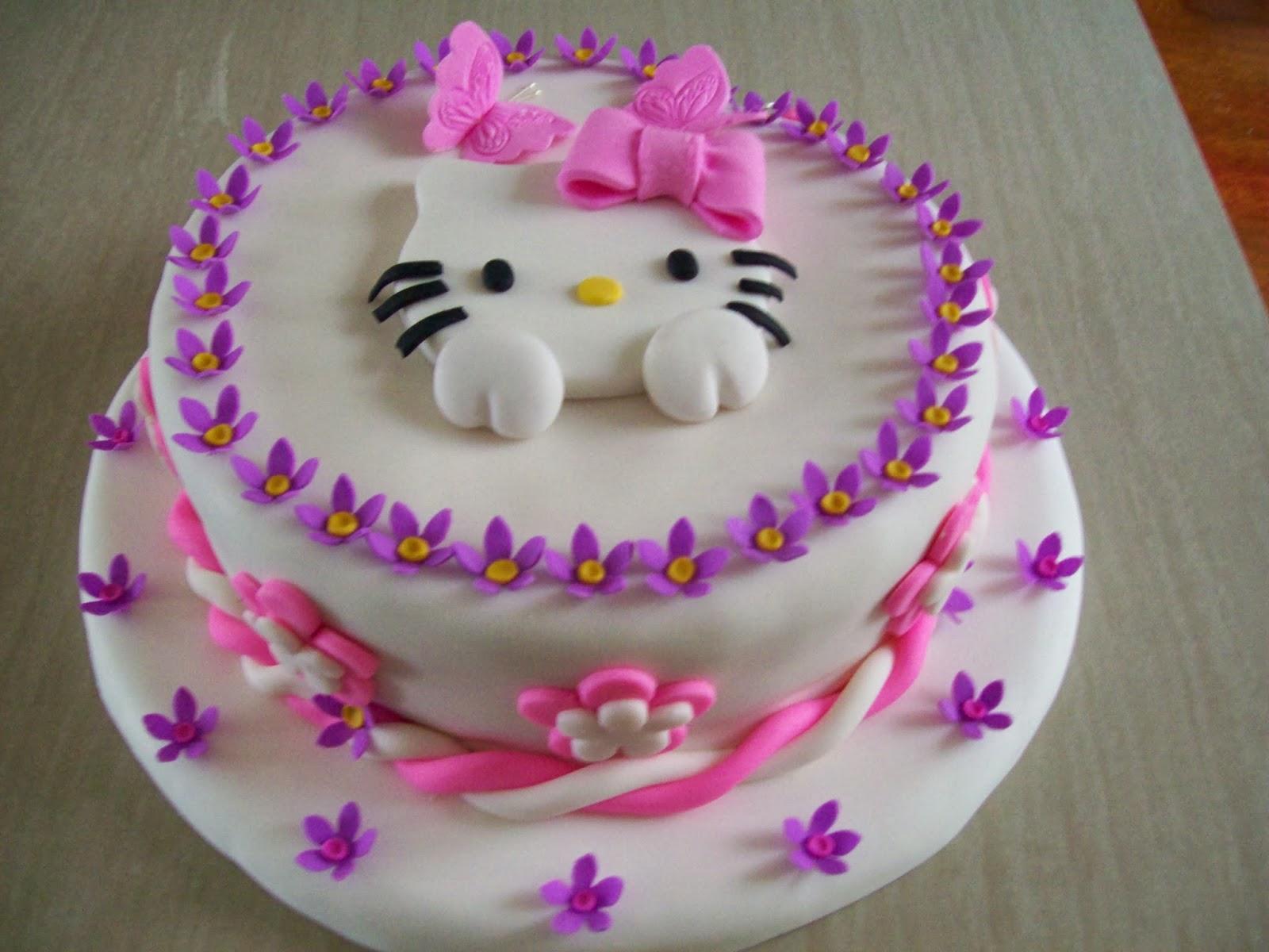Kitty Decoracion De Tortas ~ Decoraci?n de torta de Hello Kitty  Imagui