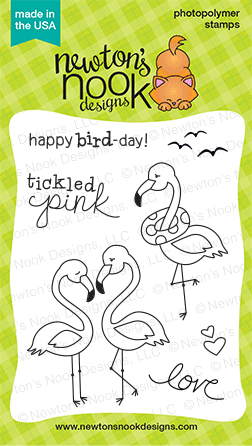 Flirty Flamingos Stamp set | Newton's Nook Designs | July 2014 Release