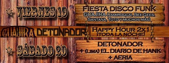 Fiesta disco Funk con Guajira en el Sheriff (19 de abril)