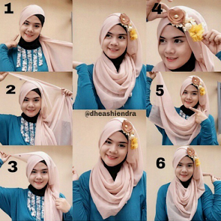Tutorial Cara Memakai Hijab Modern ala Citra Kirana