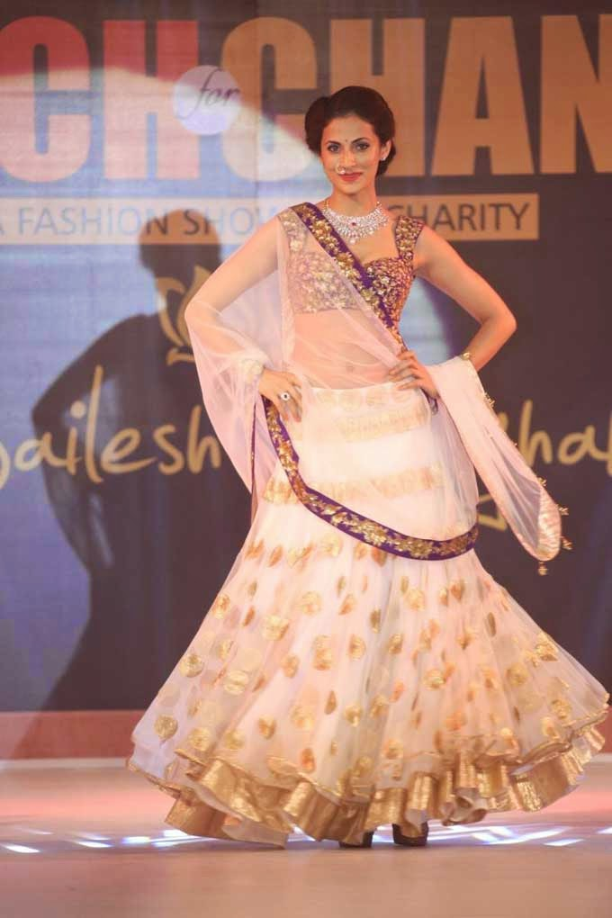 Shilpa Reddy Walks the Ramp for Teach For Change Fashion Show