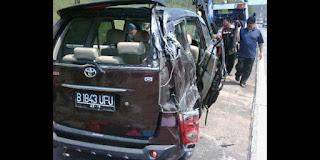 Mobil Saipul Jamil Setelah Kecelakaan