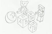 Desenho de brinquedos para colorir. Desenho de brinquedos para colorir em .