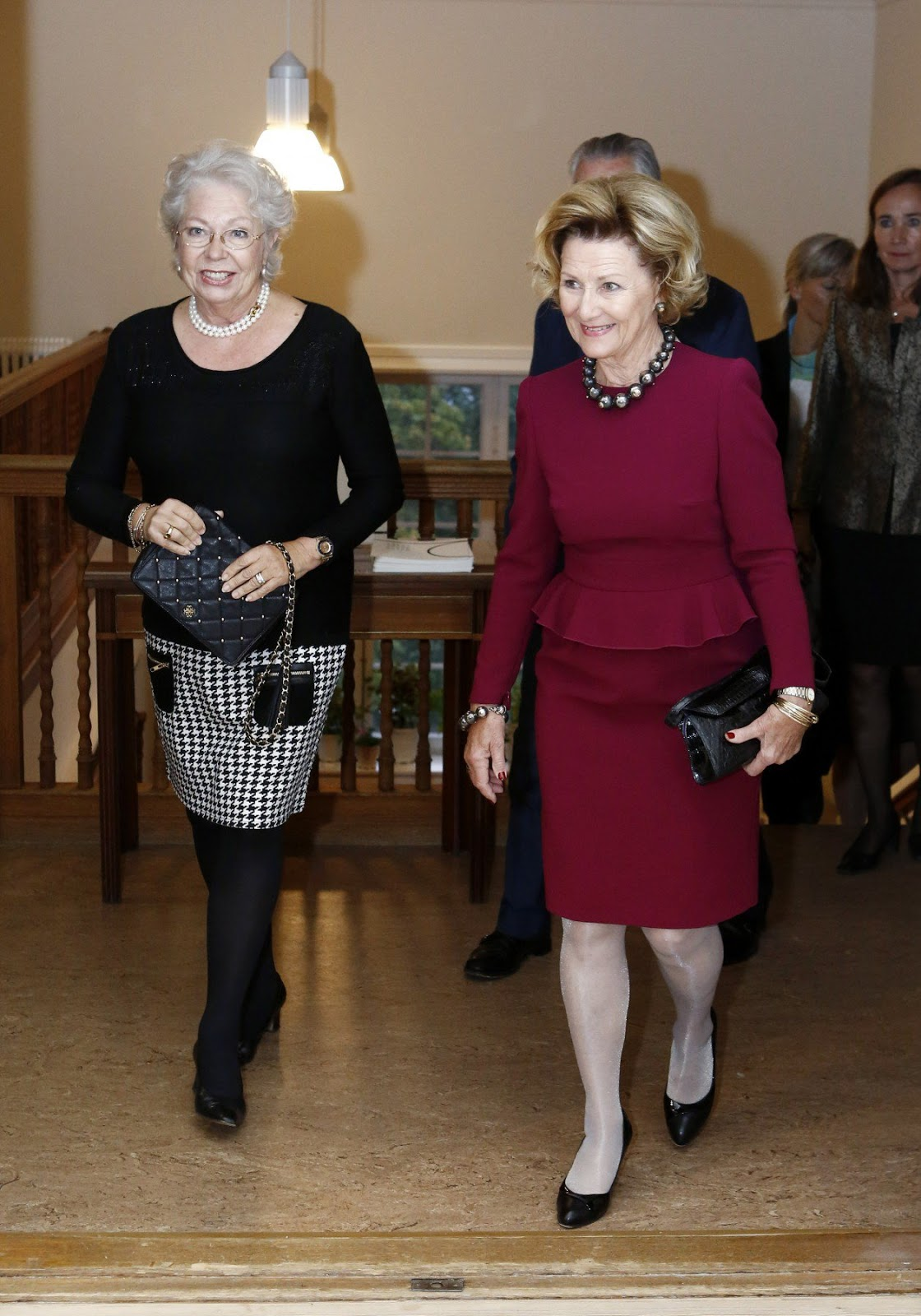 Queen Sonja at opening of the exhibition in Stockholm.