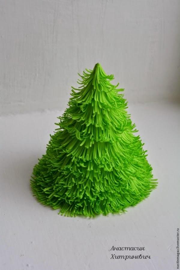 C mo hacer un arbolito de navidad con fomi - Como hacer un arbol de navidad de papel ...