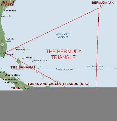 peta segitiga bermuda lokasi