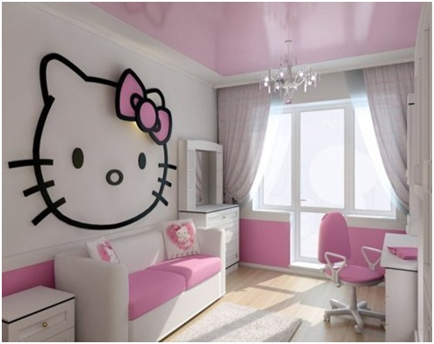 Bedroom Ideas  Girls on Hello Kitty Bedrooms   Bedrooms Decorating Ideas  Dormitory Photos