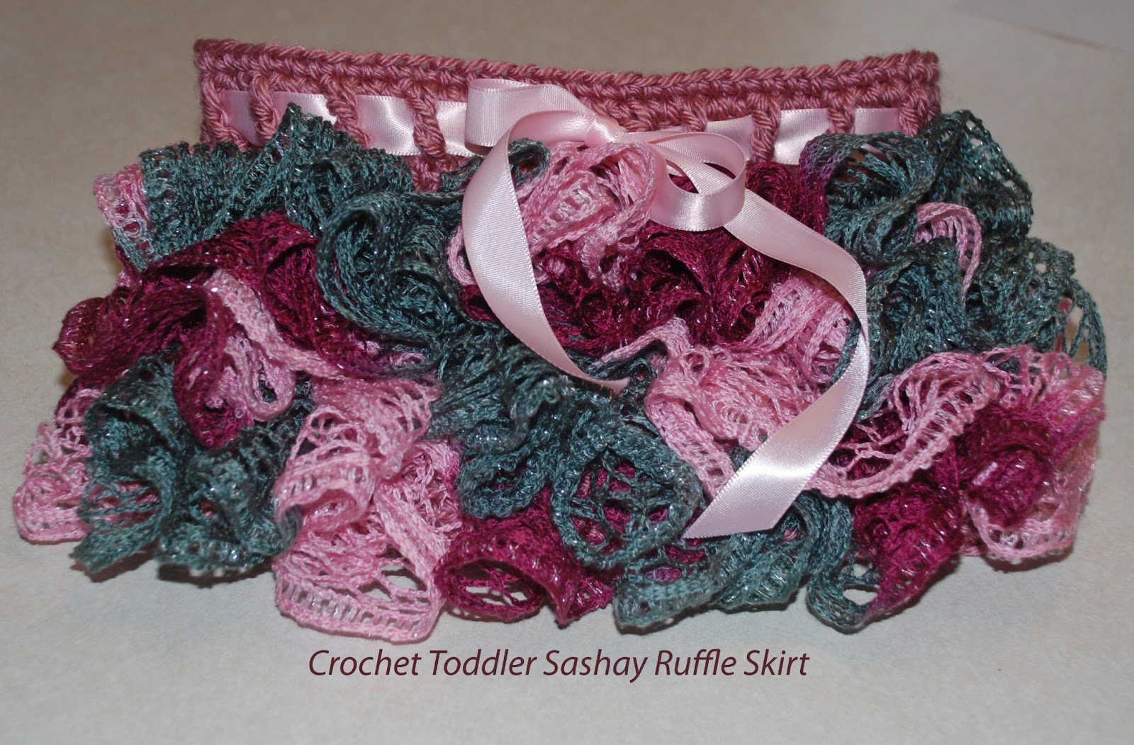 Free Crochet Patterns With Sashay Yarn : Amys Crochet Creative Creations: Crochet Sashay Ruffle ...