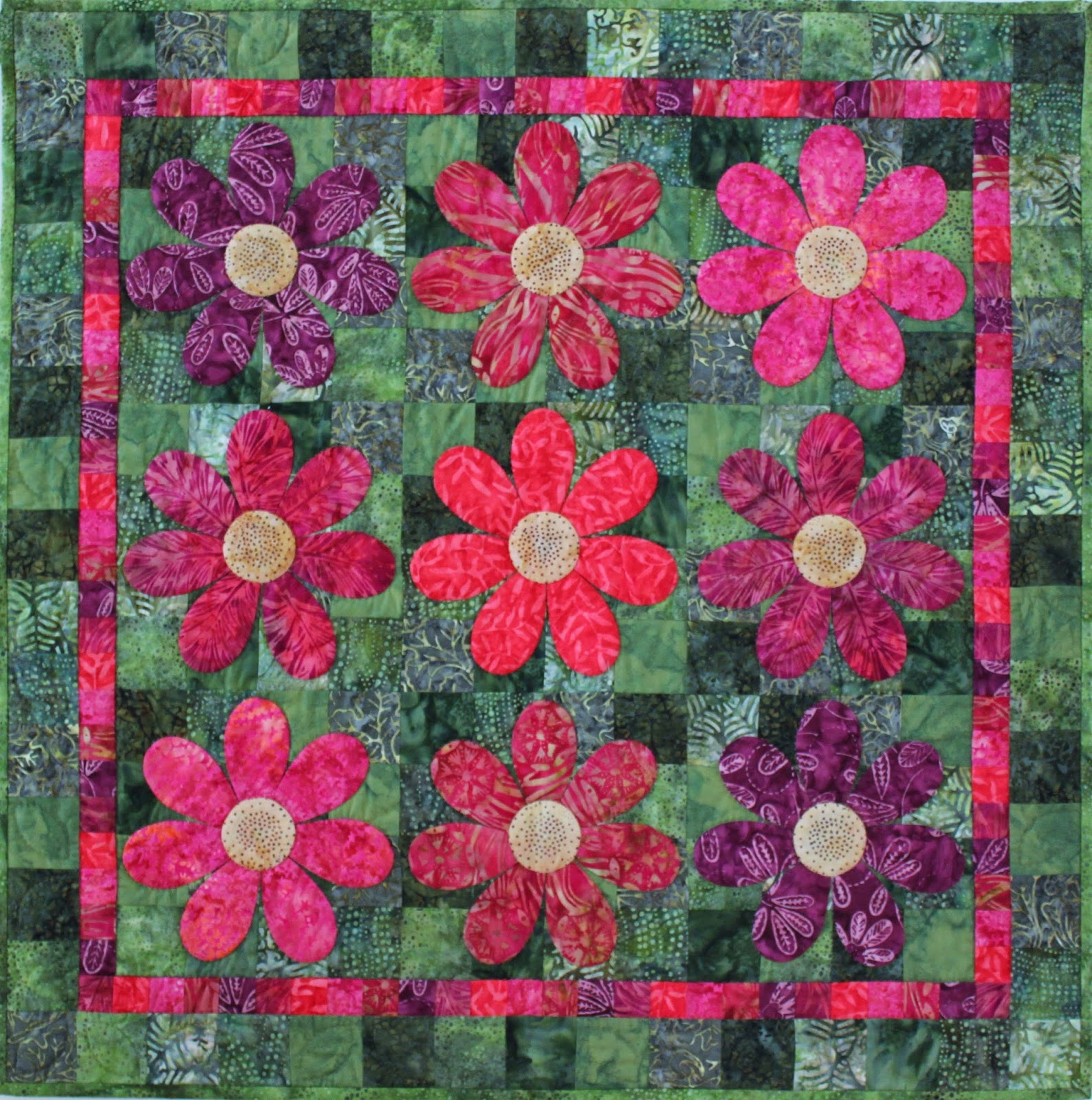 """Jen Daly Quilts """"Hothouse Flowers"""" Free Pattern"""