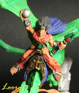 Thuril Elf Stone sobre un Dragon Master