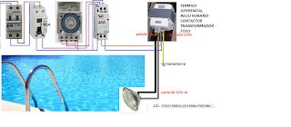Contactor reloj y trafo piscina esquemas el ctricos for Reloj piscina